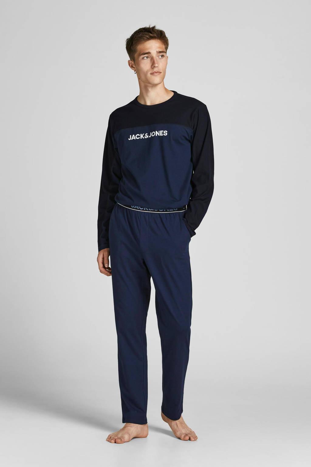 JACK & JONES pyjama JACSMITH donkerblauw/zwart, Donkerblauw/zwart