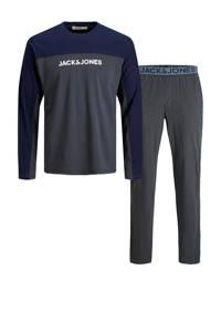 JACK & JONES pyjama JACSMITH donkergrijs/donkerblauw, Donkergrijs/donkerblauw