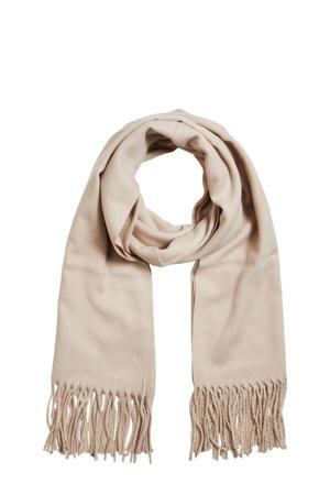 sjaal met franjes OBJMARILYN beige