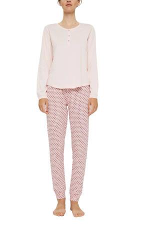 pyjama met all over print lichtroze/roze