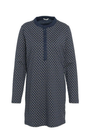 nachthemd met all over print donkerblauw
