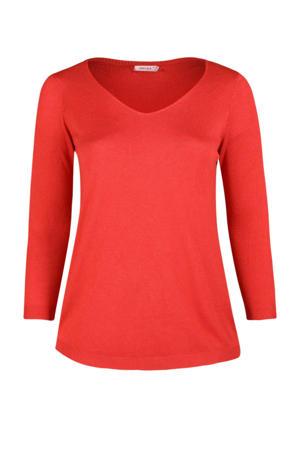 fijngebreide trui Poly rood