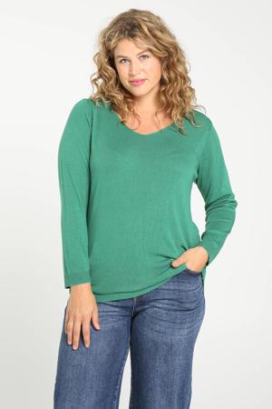 fijngebreide trui Poly groen