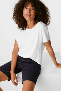 C&A straight fit broek met biologisch katoen donkerblauw, Donkerblauw