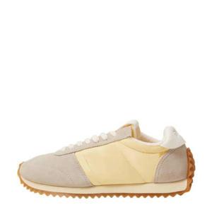 leren sneakers geel/beige