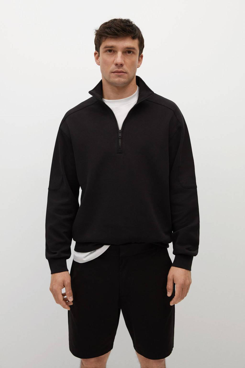 Mango Man regular fit short zwart, Zwart