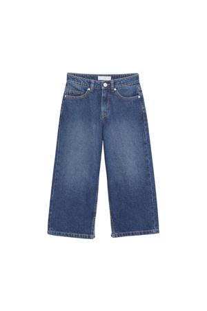 wide leg jeans changeant blauw