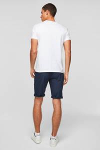 Q/S designed by regular fit shirt met printopdruk wit, Wit