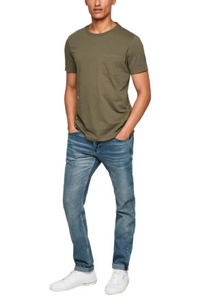 regular fit T-shirt kaki