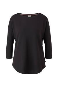 Q/S designed by sweater 3/4 mouw zwart, Zwart