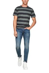s.Oliver gestreept regular fit T-shirt donkerblauw, Donkerblauw