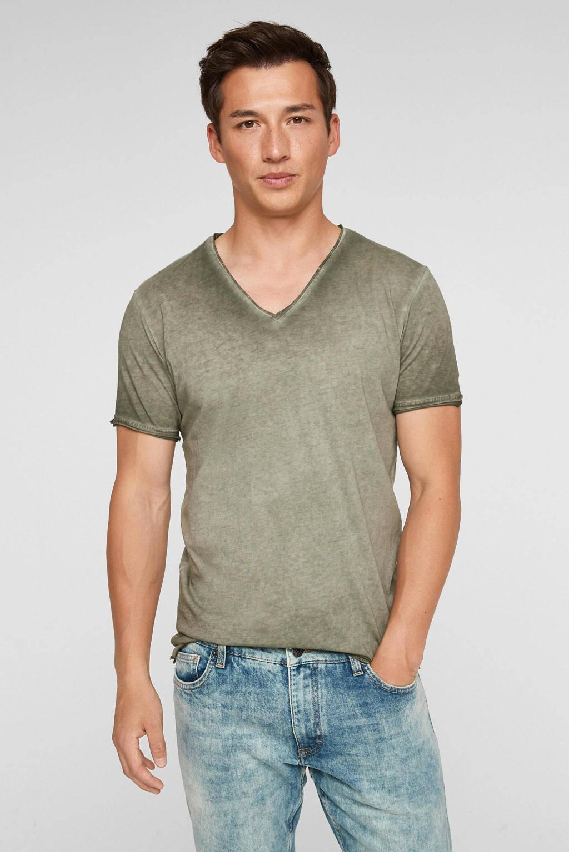 Q/S designed by regular fit T-shirt kaki, Kaki
