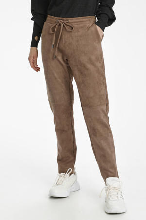 tapered fit broek KAdoria bruin