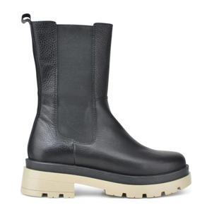 Jungle  leren chelsea boots zwart
