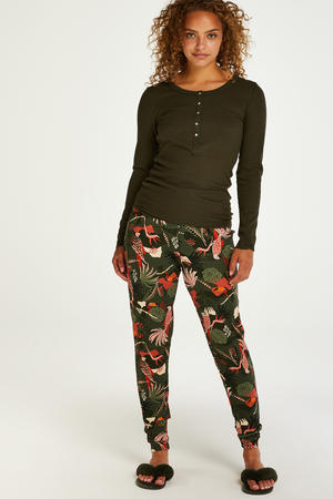 pyjamatop donkergroen