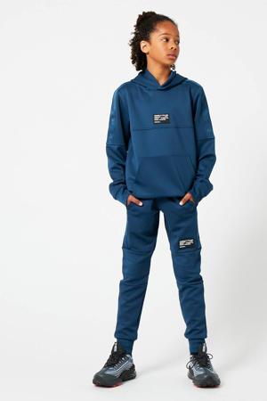 regular fit joggingbroek met logo blauw