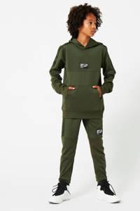 CoolCat Junior joggingbroek met tekst army groen, Army groen