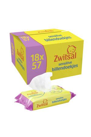 Baby Billendoekjes Lotion - 18 x 57 stuks - Voordeelverpakking