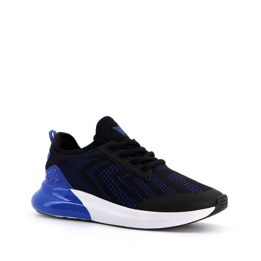 Scapino   sportschoenen zwart/wit/blauw, Zwart/blauw