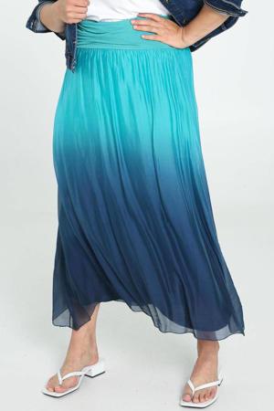 dip-dye midi rok blauw