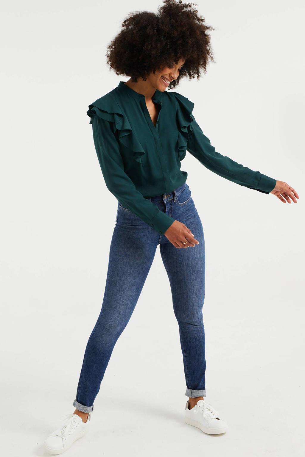 WE Fashion Blue Ridge skinny jeans blue used denim, Blue Used Denim