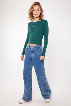 high waist wide leg jeans lightning indigo
