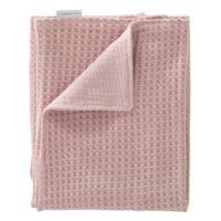Cottonbaby baby ledikantdeken wafel gebreid met Cottonsoft 120x150 cm oudroze, Oudroze