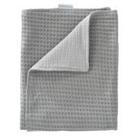 Cottonbaby baby ledikantdeken wafel gebreid met Cottonsoft 120x150 cm grijs, Grijs