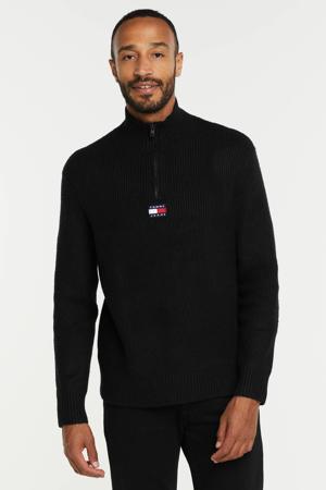 trui van gerecycled polyester black