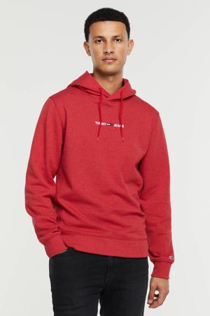 hoodie met logo deep crimson