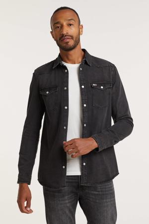 regular fit overhemd denim black