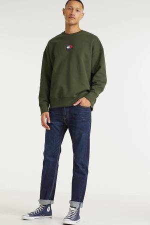 sweater van biologisch katoen dark olive