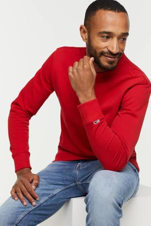 sweater met logo deep crimson