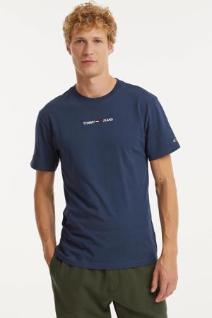 T-shirt met biologisch katoen twilight navy