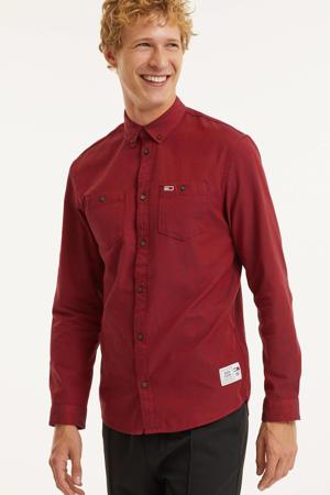 regular fit overhemd van biologisch katoen deep crimson