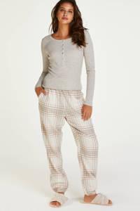 Hunkemöller pyjamatop beige, Beige