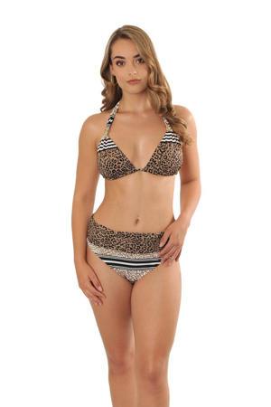 omslag bikinibroekje Eva met panterprint bruin
