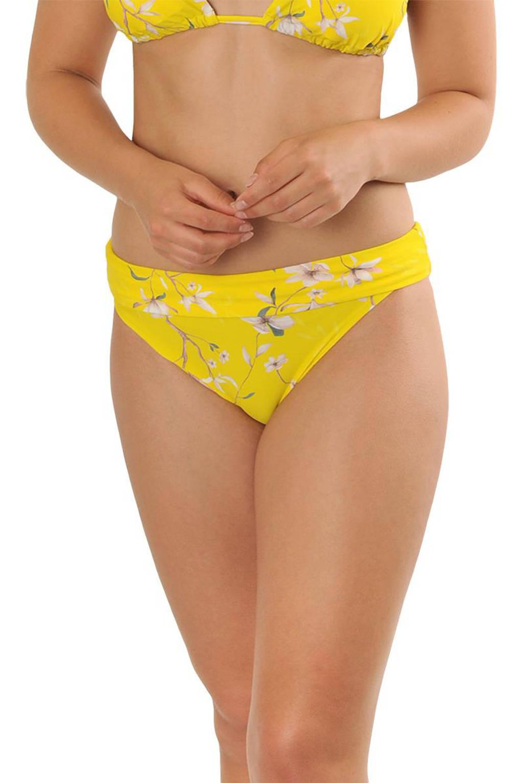 Gottex X Sapph gebloemd omslag bikinibroekje Eva geel, Geel
