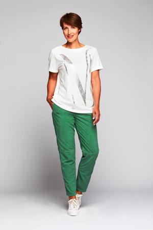 T-shirt Artwork Tee met printopdruk wit/zilver