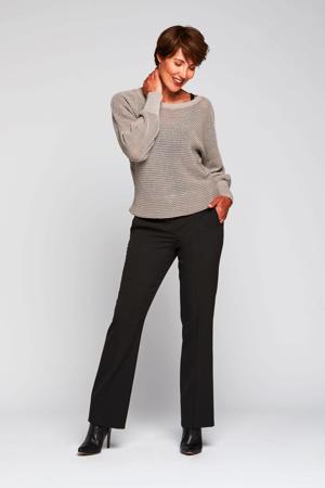 high waist flared broek Bibianne zwart