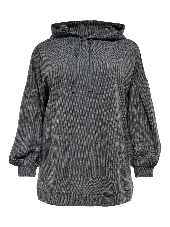 ONLY CARMAKOMA gemêleerde sweater CARMARTHA grijs, Grijs
