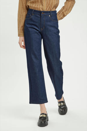 cropped high waist straight fit jeans MWKira  medium blue retro wash