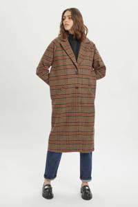 My Essential Wardrobe geruite  coat MWIben coat bruin, Bruin