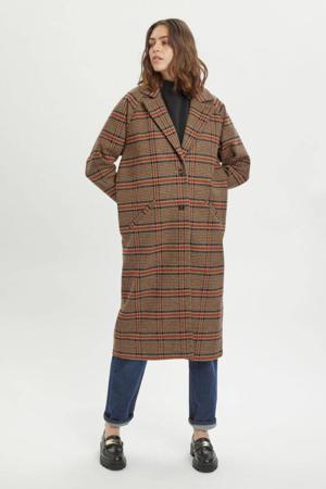 geruite  coat MWIben coat bruin