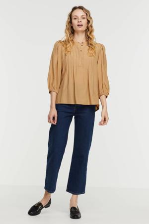 blouse MWRachel Blouse met plooien beige