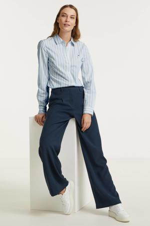 high waist wide leg palazzo broek MWLouisa Pant donkerblauw