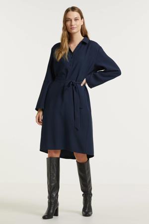 blousejurk MWLouisa shirt Dress met ceintuur donkerblauw