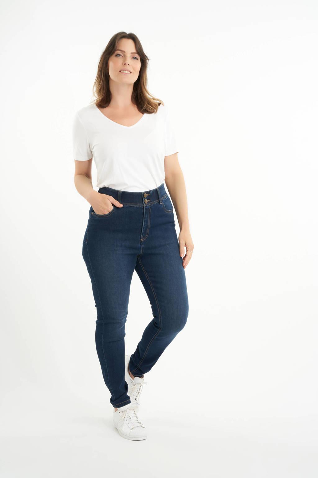 MS Mode high waist skinny jeans dark denim, Dark denim