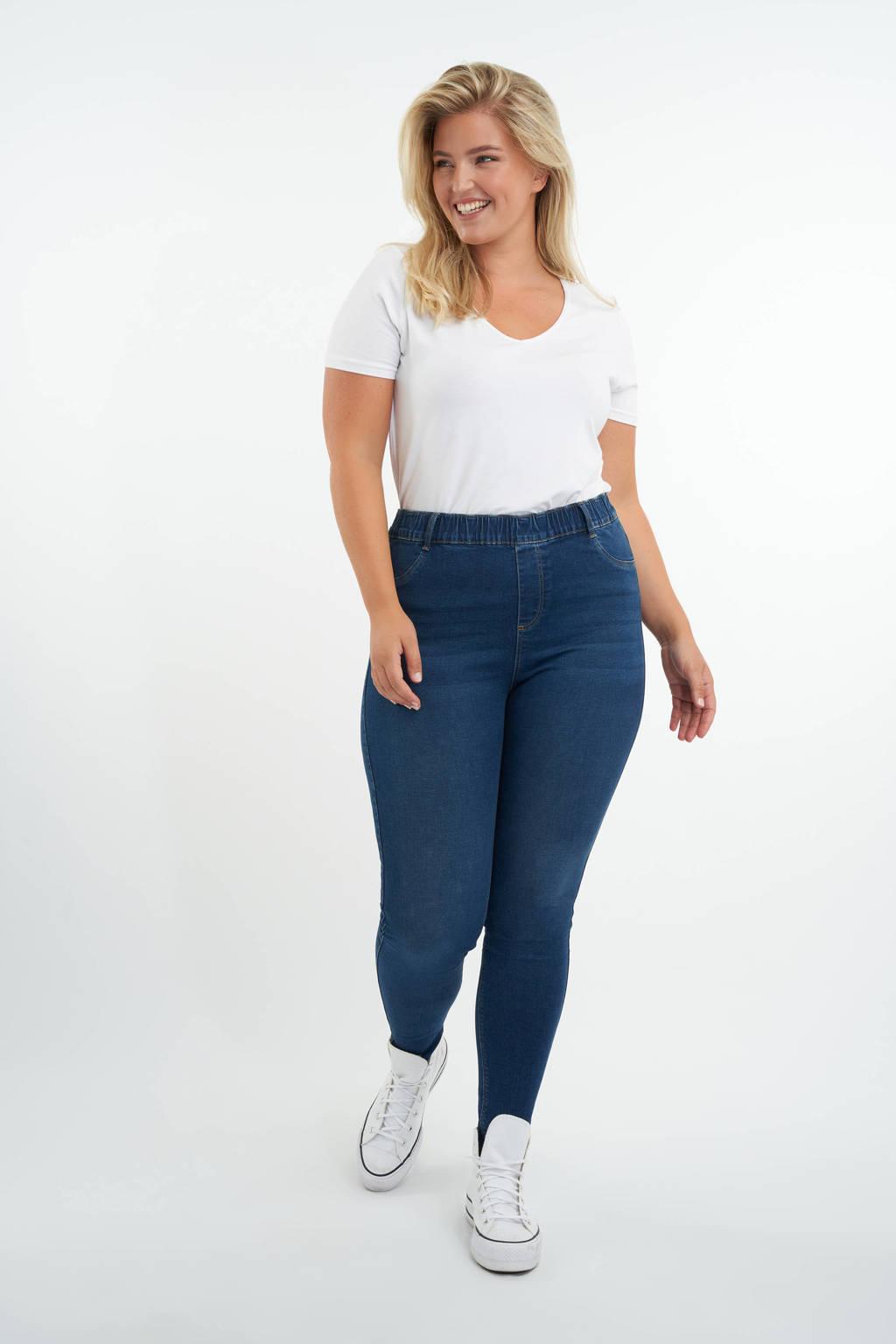 MS Mode low waist slim fit tregging dark blue, Dark Blue
