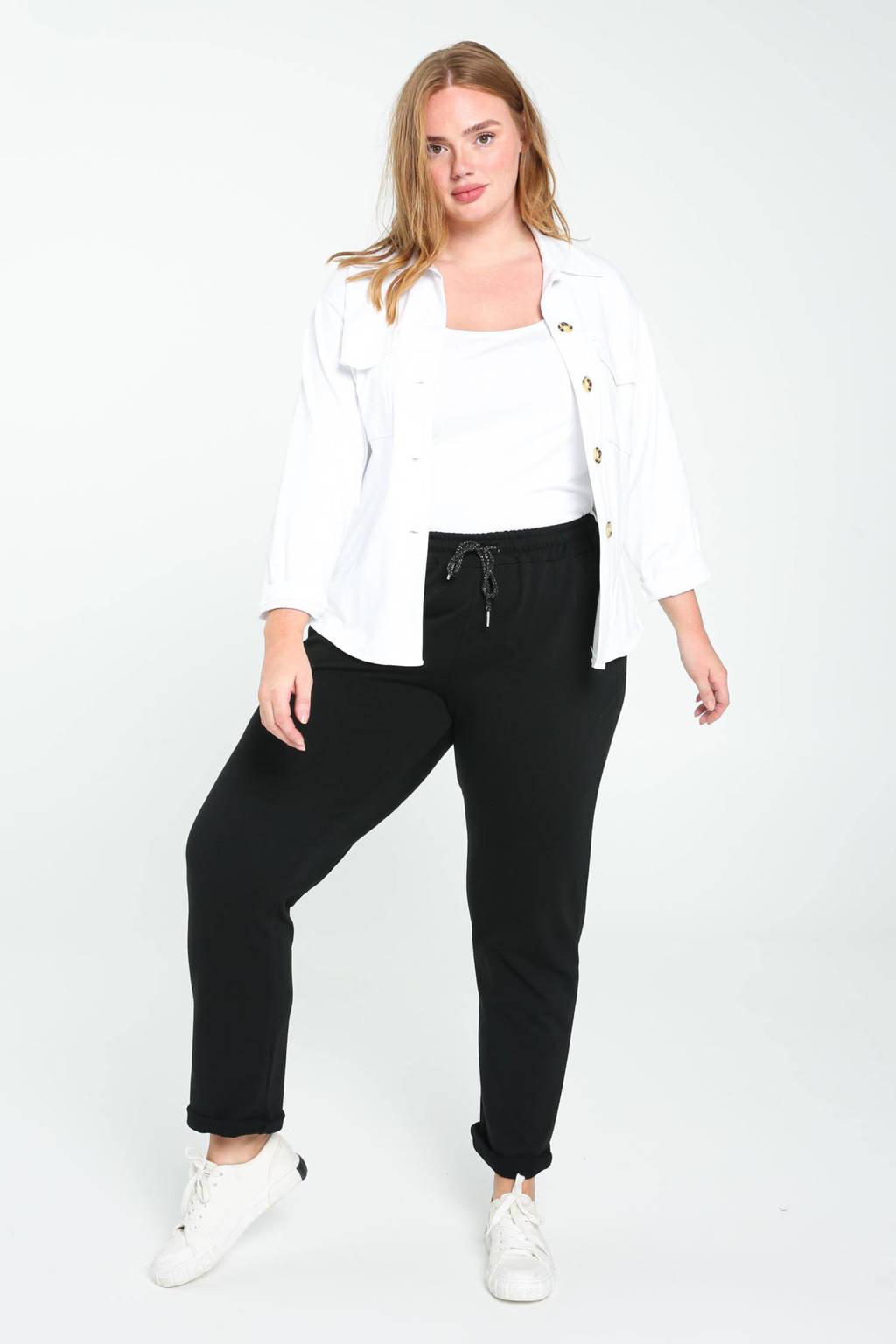 Paprika regular fit broek zwart, Zwart